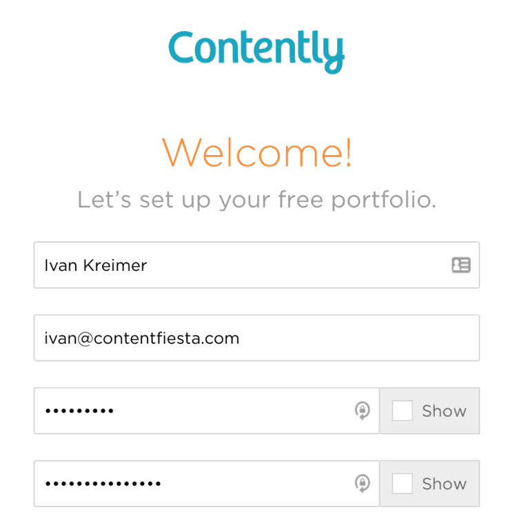 signup contently