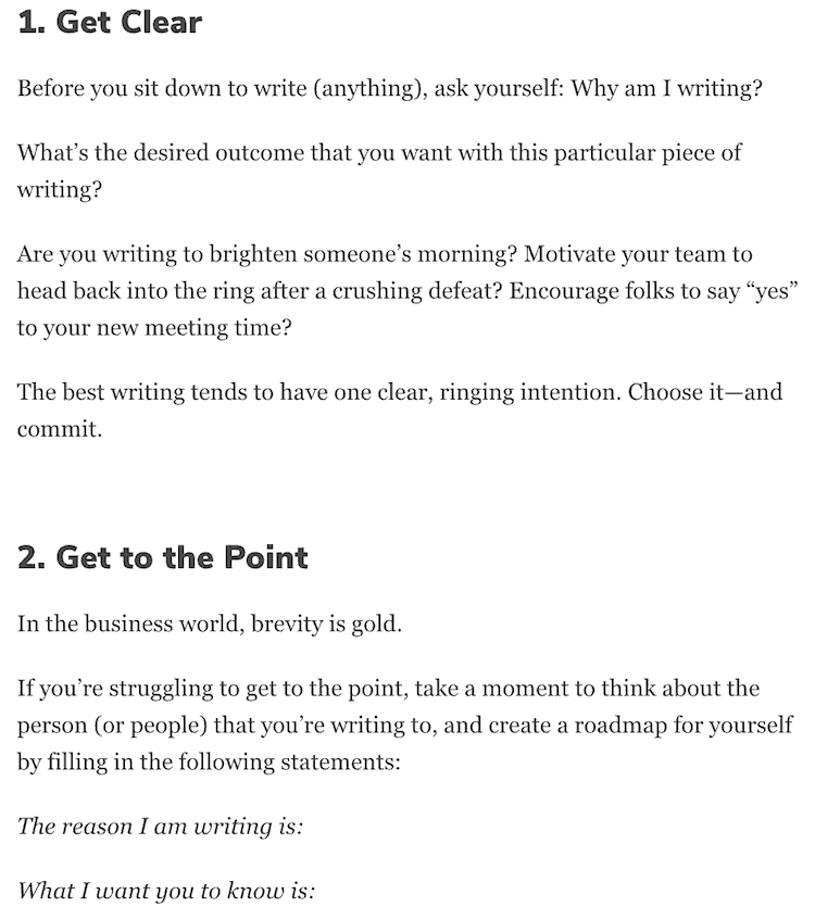 WRITING TIPS PAGE