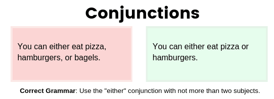 either conjunction