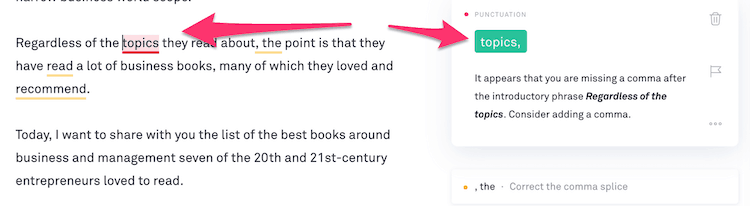 GRAMMARLY FIX
