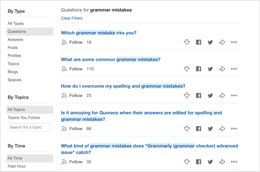 QUORA GRAMMAR MISTAKES