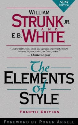 writing books the elements of style