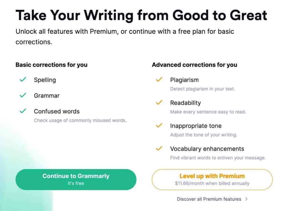 grammarly onboarding
