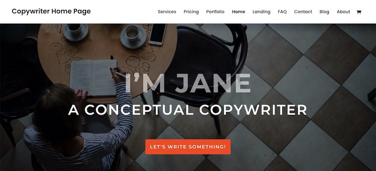 divi copywriter layout
